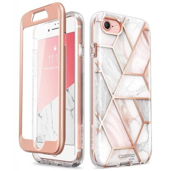 Husa Premium Originala 360 Grade Supcase Cosmo iPhone Se 2 ( 2020 ) Marble imagine itelmobile.ro 2021