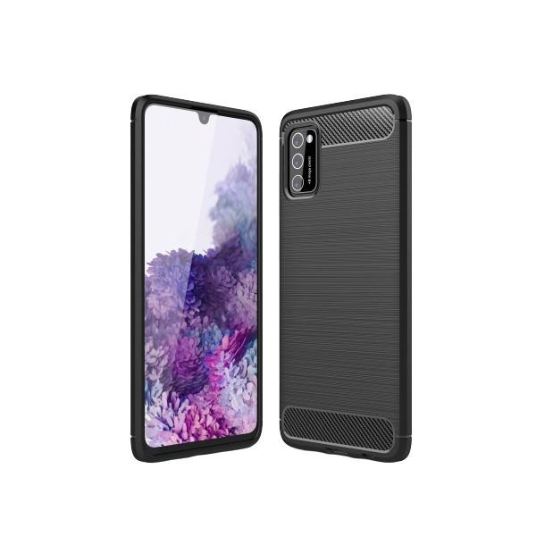 Husa Spate Upzz Carbon Pro Samsung Galaxy A41 Negru imagine itelmobile.ro 2021