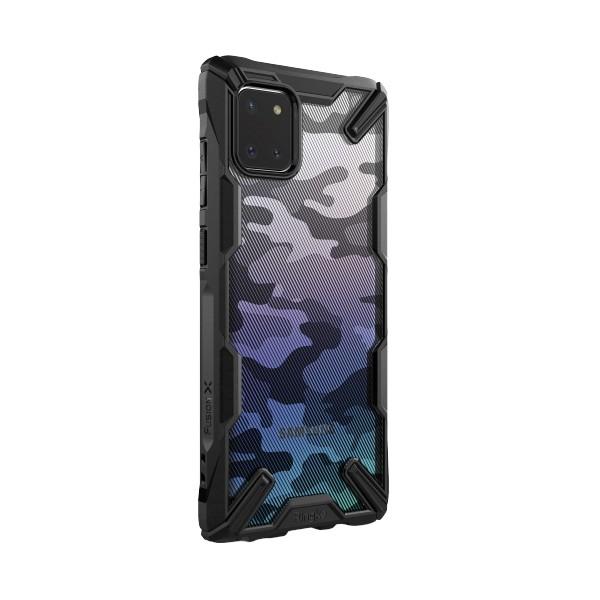 Husa Premium Ringke Fusion X Samsung Note 10 Lite Camo Black imagine itelmobile.ro 2021
