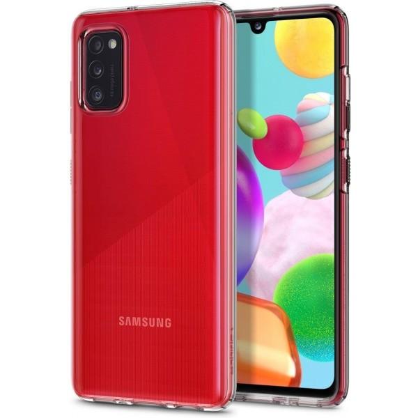 Husa Premium Spigen Liquid Crystal Samsung Galaxy A41 Transparenta imagine itelmobile.ro 2021