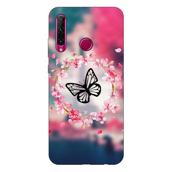 Husa Silicon Soft Upzz Print Huawei P40 Lite E Model Butterfly imagine itelmobile.ro 2021