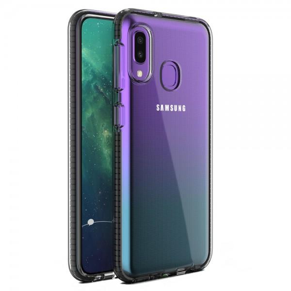 Husa Spate Upzz Spring Samsung Galaxy A20e ,silicon 1mm ,rezistenta La Socuri ,transparenta Cu Margine Neagra imagine itelmobile.ro 2021