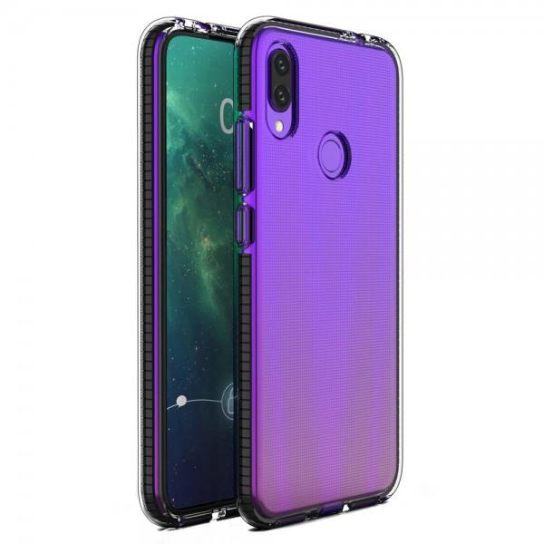 Husa Spate Upzz Spring Huawei P Smart 2019 , Silicon 1mm ,rezistenta La Socuri ,transparenta Cu Margine Neagra imagine itelmobile.ro 2021