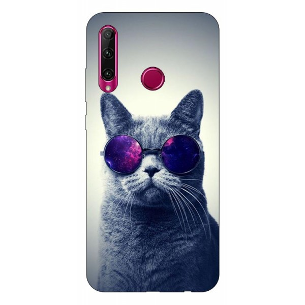 Husa Silicon Soft Upzz Print Huawei P40 Lite E Model Cool Cat imagine itelmobile.ro 2021