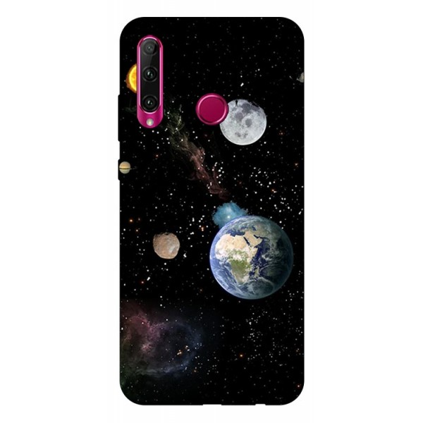 Husa Silicon Soft Upzz Print Huawei P40 Lite E Model Earth imagine itelmobile.ro 2021