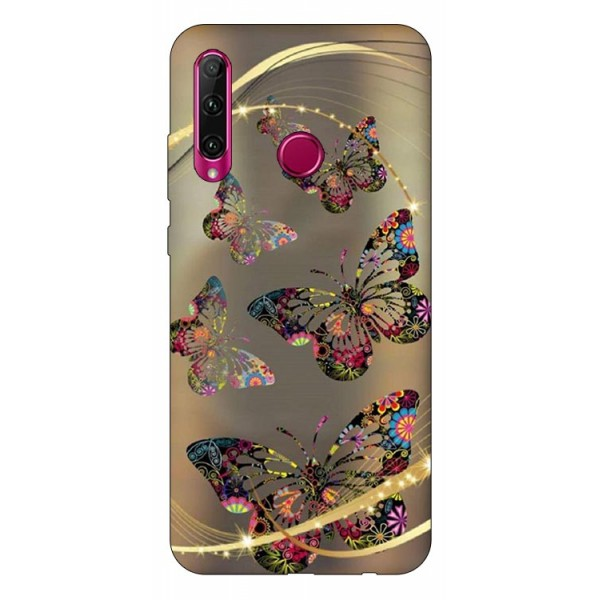 Husa Silicon Soft Upzz Print Huawei P40 Lite E Model Golden Butterfly imagine itelmobile.ro 2021