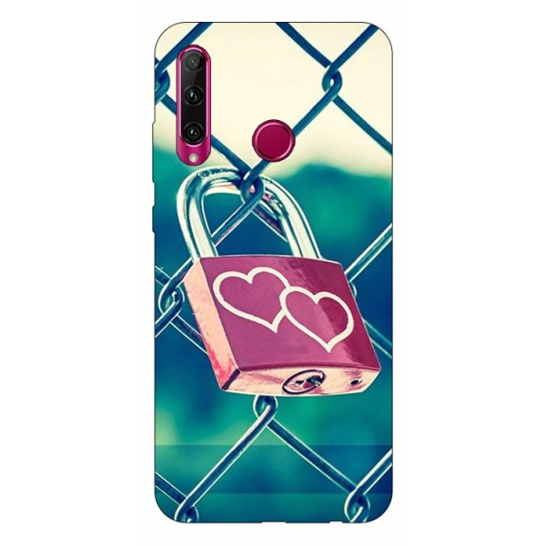 Husa Silicon Soft Upzz Print Huawei P40 Lite E Model Heart Lock imagine itelmobile.ro 2021