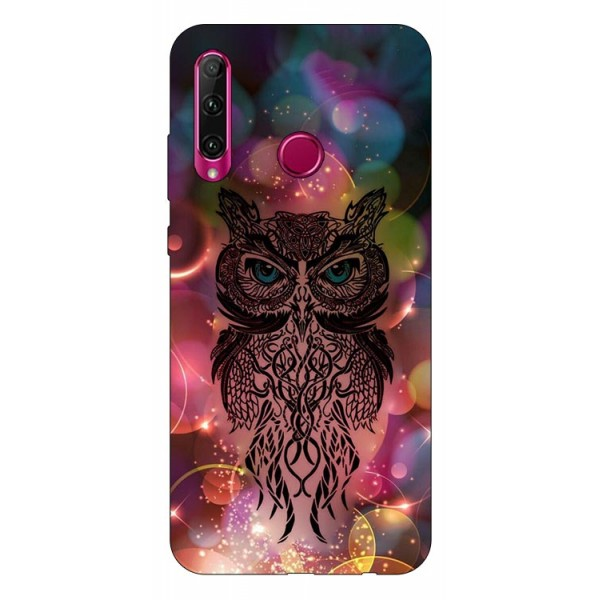 Husa Silicon Soft Upzz Print Huawei P40 Lite E Model Sparkle Owl imagine itelmobile.ro 2021