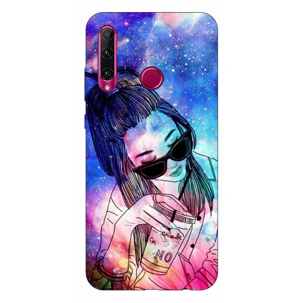 Husa Silicon Soft Upzz Print Huawei P40 Lite E Model Universe Girl imagine itelmobile.ro 2021