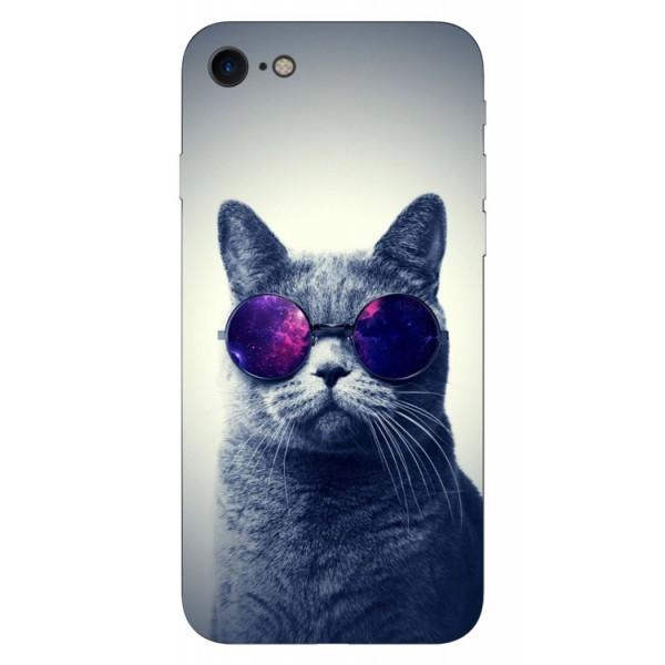 Husa Silicon Soft Upzz Print iPhone Se 2 ( 2020 ) ,model Cool Cat imagine itelmobile.ro 2021