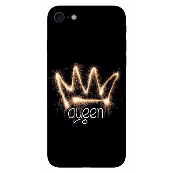Husa Silicon Soft Upzz Print iPhone Se 2 ( 2020 ) ,model Queen imagine itelmobile.ro 2021