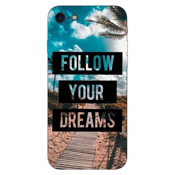 Husa Silicon Soft Upzz Print iPhone Se 2 ( 2020 ) ,model Dreams imagine itelmobile.ro 2021