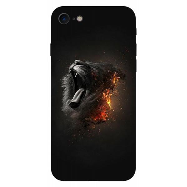 Husa Silicon Soft Upzz Print iPhone Se 2 ( 2020 ) ,model Lion imagine itelmobile.ro 2021