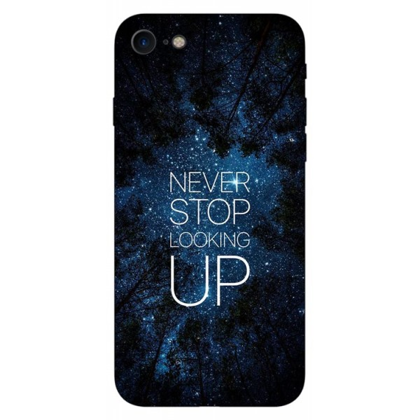 Husa Silicon Soft Upzz Print iPhone Se 2 ( 2020 ) ,model Never Stop imagine itelmobile.ro 2021