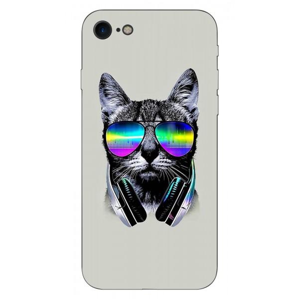 Husa Silicon Soft Upzz Print iPhone Se 2 ( 2020 ) ,model Cat imagine itelmobile.ro 2021
