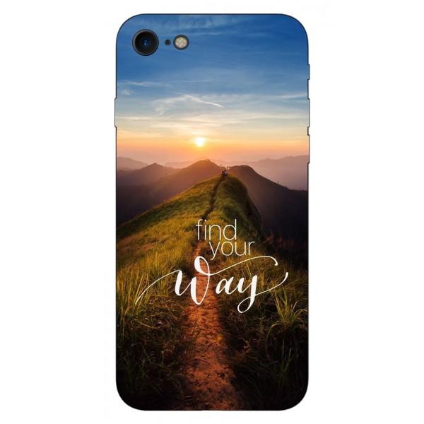 Husa Silicon Soft Upzz Print iPhone Se 2 ( 2020 ) ,model Way imagine itelmobile.ro 2021