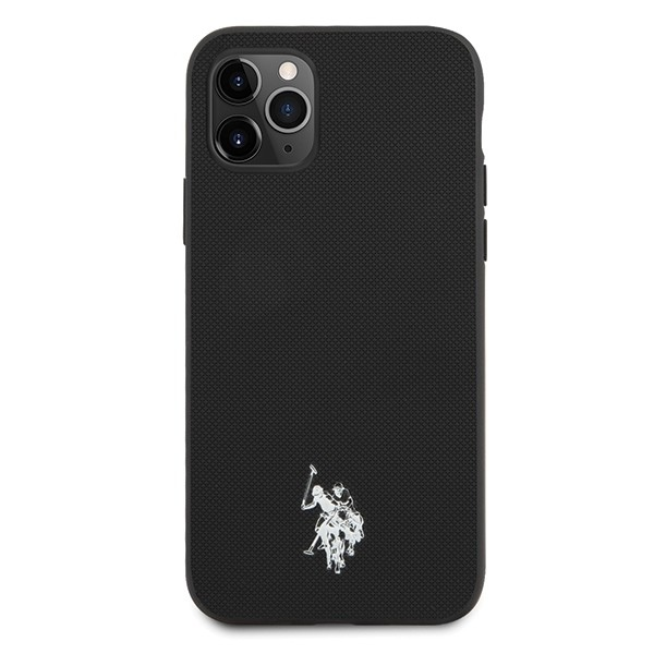 Husa Premium Originala Us Polo Assn iPhone 11 Pro, Negru imagine itelmobile.ro 2021
