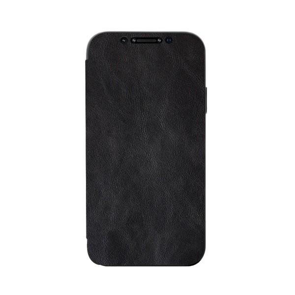 Husa Premium Flip Book Upzz Leather iPhone 11 Pro Max , Piele Ecologica, Negru imagine itelmobile.ro 2021