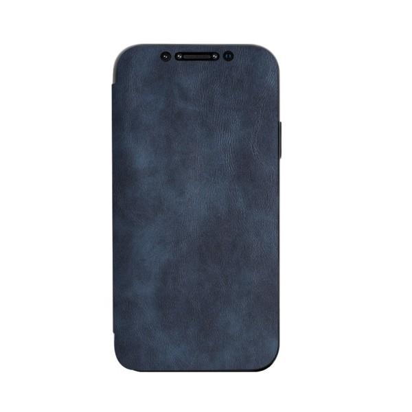 Husa Premium Flip Book Upzz Leather iPhone 11 Pro Max , Piele Ecologica, Albastru imagine itelmobile.ro 2021