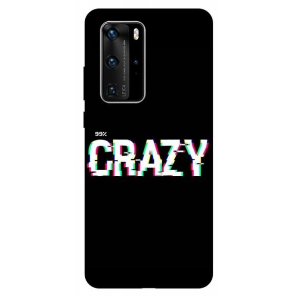 Husa Silicon Soft Upzz Print Huawei P40 Pro Model Crazy imagine itelmobile.ro 2021