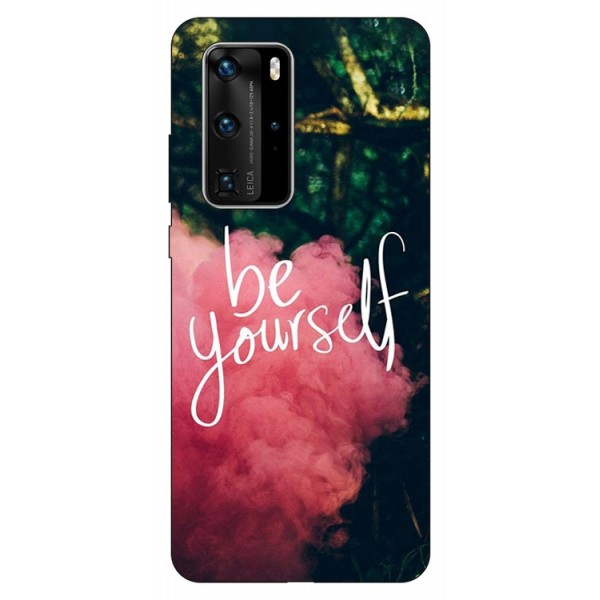 Husa Silicon Soft Upzz Print Huawei P40 Pro Model Be Yourself imagine itelmobile.ro 2021