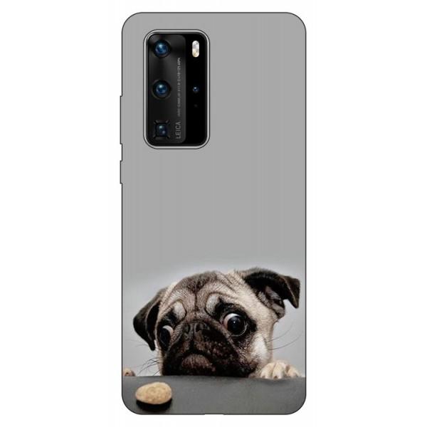 Husa Silicon Soft Upzz Print Huawei P40 Pro Model Dog imagine itelmobile.ro 2021