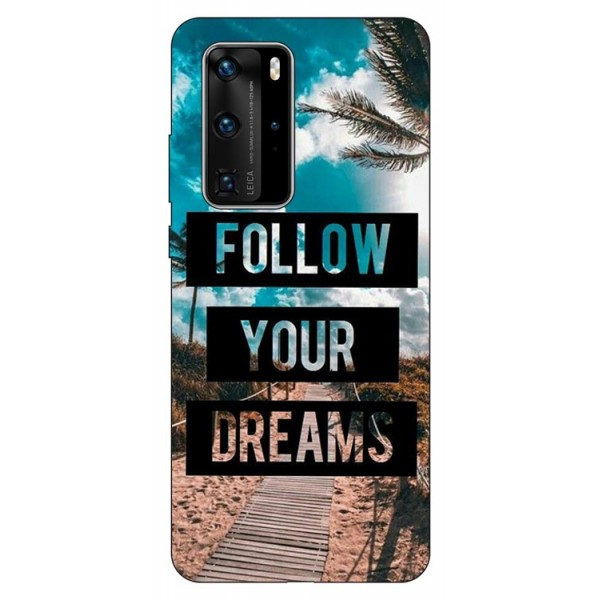 Husa Silicon Soft Upzz Print Huawei P40 Pro Model Dreams imagine itelmobile.ro 2021