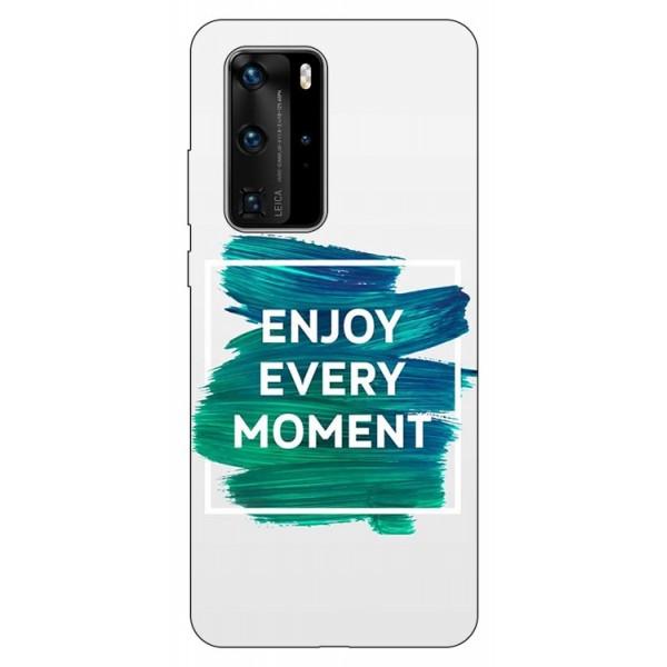 Husa Silicon Soft Upzz Print Huawei P40 Pro Model Enjoy imagine itelmobile.ro 2021