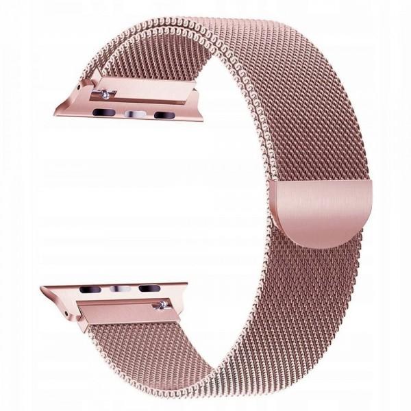 Curea Apple Watch, Tech Protect Milanese Loop, Compatibila Cu Apple Watch 1/2/3/4/5 (42/44mm), Rose Gold imagine itelmobile.ro 2021