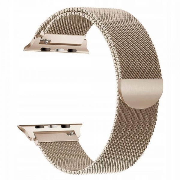 Curea Apple Watch, Tech Protect Milanese Loop, Compatibila Cu Apple Watch 1/2/3/4/5 (42/44mm) Gold imagine itelmobile.ro 2021