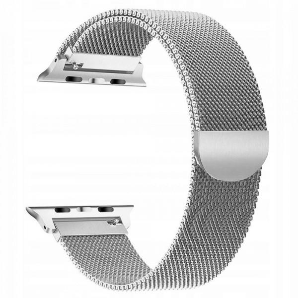 Curea Apple Watch, Tech Protect Milanese Loop, Compatibila Cu Apple Watch 1/2/3/4/5 (38/40mm) ,silver imagine itelmobile.ro 2021