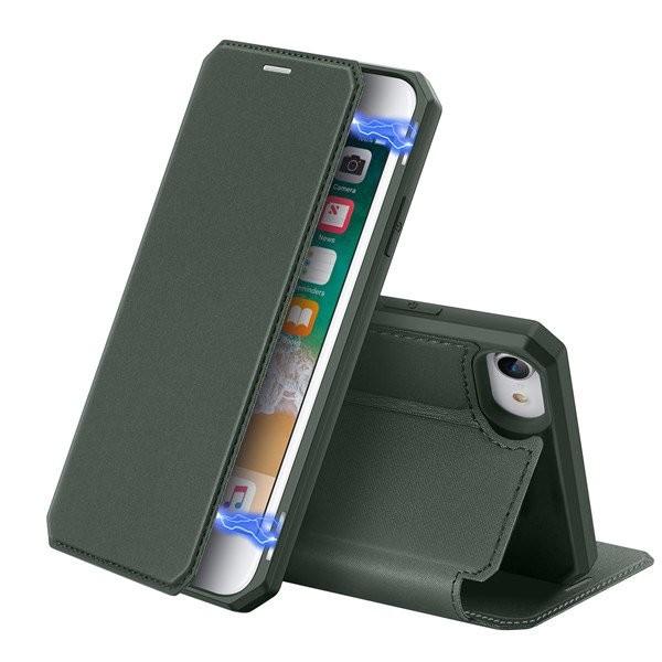 Husa Premium Duxducis Skin X Flip Cover iPhone Se 2 ( 2020 ) ,green imagine itelmobile.ro 2021