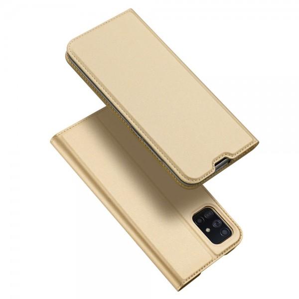 Husa Flip Cover Premium Duxducis Skinpro Samsung Galaxy A71, Gold imagine itelmobile.ro 2021