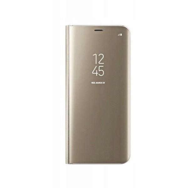 Husa Tip Carte S View Mirror Samsung Galaxy S10 Lite , Gold imagine itelmobile.ro 2021