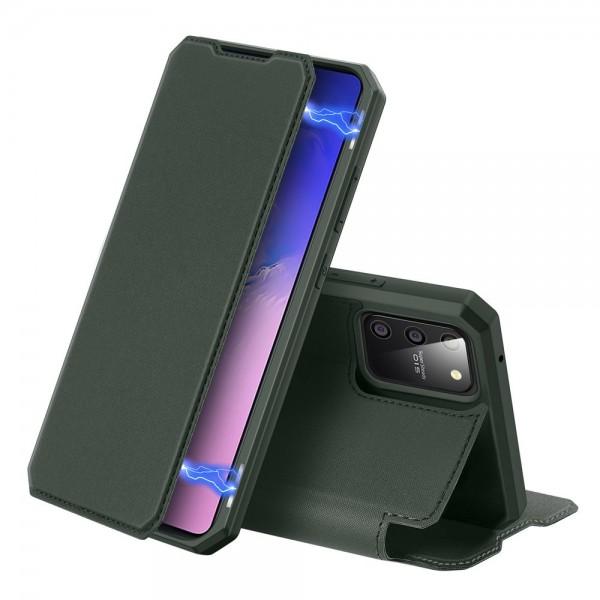 Husa Premium Duxducis Skin X Flip Cover Samsung Galaxy S10 Lite, Verde imagine itelmobile.ro 2021