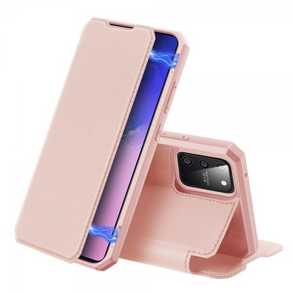 Husa Premium Duxducis Skin X Flip Cover Samsung Galaxy S10 Lite, Roz imagine itelmobile.ro 2021