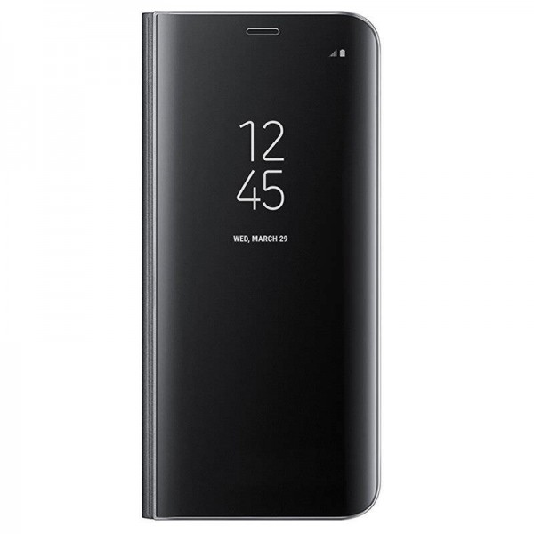 Husa Flip Cover Upzz Mirror iPhone Se 2 ( 2020 ) ,negru Cu Folie Sticla Upzz Inclusa imagine itelmobile.ro 2021