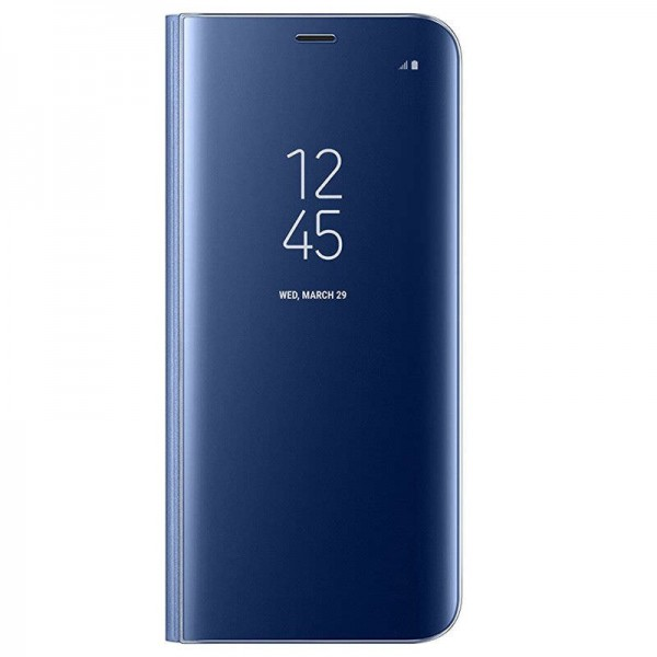 Husa Flip Cover Upzz Mirror iPhone Se 2 ( 2020 ) Albastru Cu Folie Sticla Upzz Inclusa imagine itelmobile.ro 2021