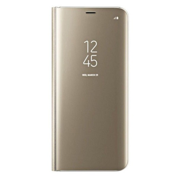 Husa Flip Cover Upzz Mirror iPhone Se 2 ( 2020 ) Gold Cu Folie Sticla Upzz Inclusa imagine itelmobile.ro 2021