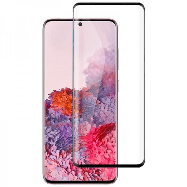 Folie Full Glue Upzz Glass Pentru Samsung Galaxy S20 ,transparenta Cu Margini Negre Full Cover ,case Friendly imagine itelmobile.ro 2021