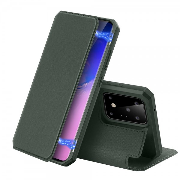 Husa Premium Duxducis Skin X Flip Cover Samsung Galaxy S20 Ultra ,verde imagine itelmobile.ro 2021