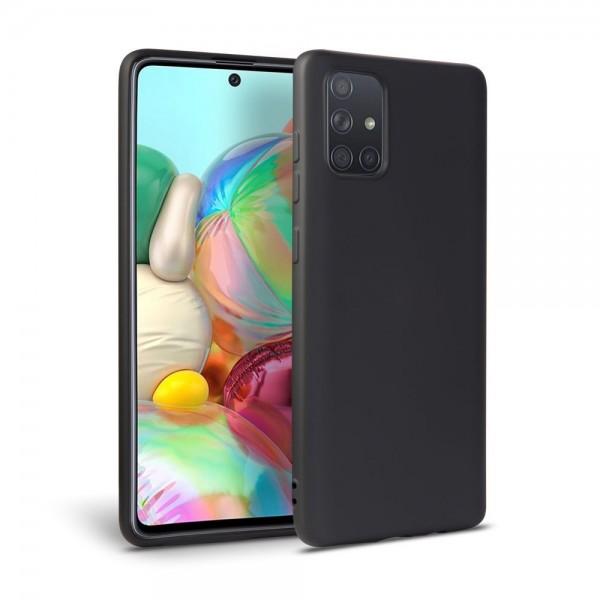 Husa Silicon Soft Upzz Samsung Galaxy A41 Interior Alcantara ,negru imagine itelmobile.ro 2021