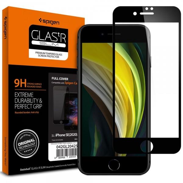 Folie Sticla Originala Spigen Pentru iPhone Se 2 ( 2020 ) ,transparenta Cu Margine Neagra imagine itelmobile.ro 2021