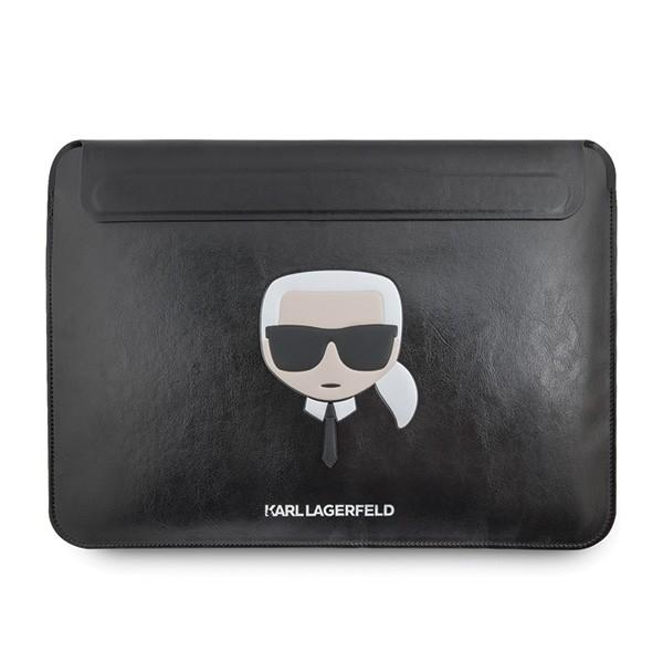 Husa Originala Karl Lagerfeld Compatibila Cu Macbook Pro / Air 13 Inch, Piele ,negru -klcs133khbk imagine itelmobile.ro 2021