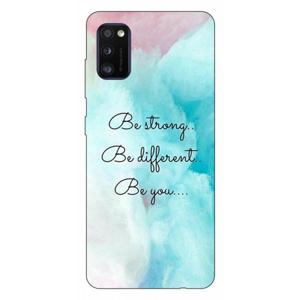 Husa Silicon Soft Upzz Print Samsung Galaxy Galaxy A41 Model Be You imagine itelmobile.ro 2021