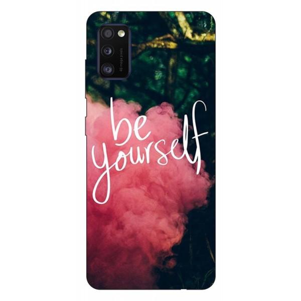 Husa Silicon Soft Upzz Print Samsung Galaxy Galaxy A41 Model Be Yourself imagine itelmobile.ro 2021