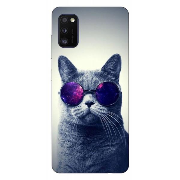 Husa Silicon Soft Upzz Print Samsung Galaxy Galaxy A41 Model Cool Cat imagine itelmobile.ro 2021