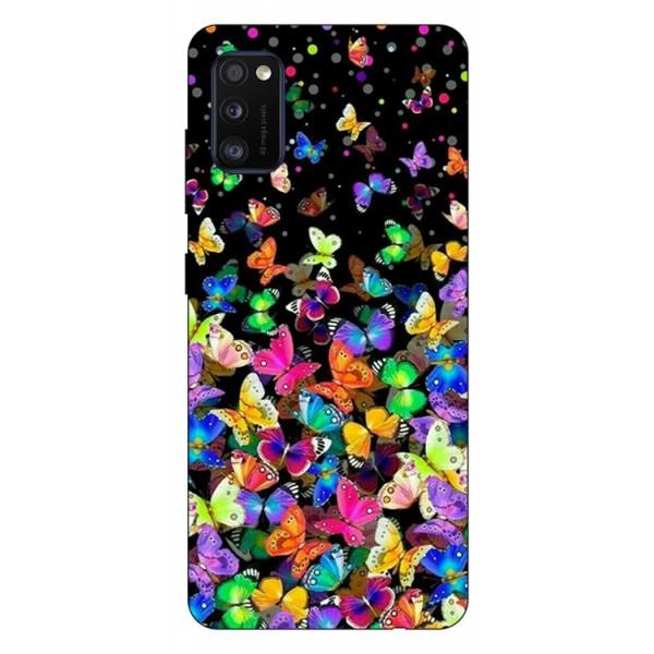 Husa Silicon Soft Upzz Print Samsung Galaxy Galaxy A41 Model Colorature imagine itelmobile.ro 2021