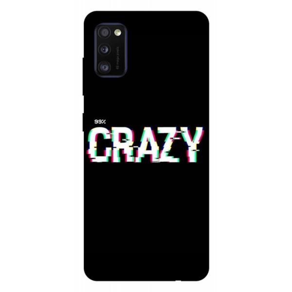 Husa Silicon Soft Upzz Print Samsung Galaxy Galaxy A41 Model Crazy imagine itelmobile.ro 2021