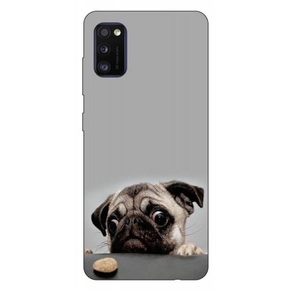 Husa Silicon Soft Upzz Print Samsung Galaxy Galaxy A41 Model Dog imagine itelmobile.ro 2021